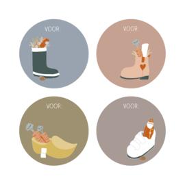 Sticker   Sint schoen (12 stuks)