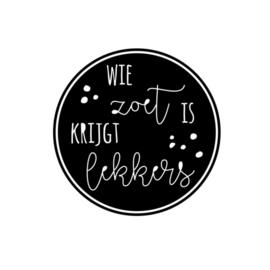 DIY stickers   Wie zoet is