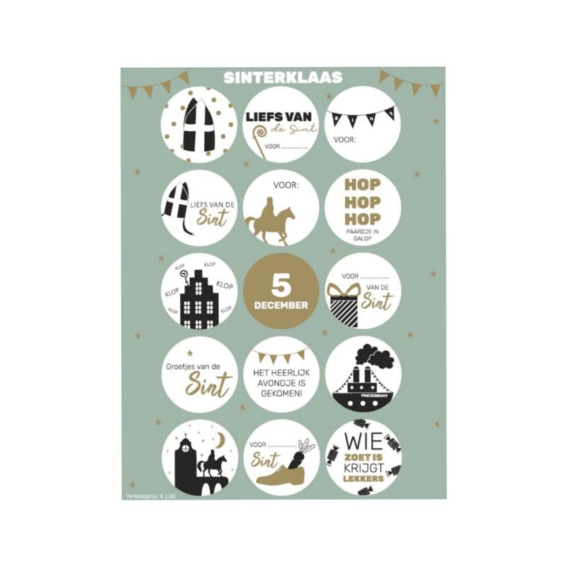 Sticker | Sinterklaasstickers vel