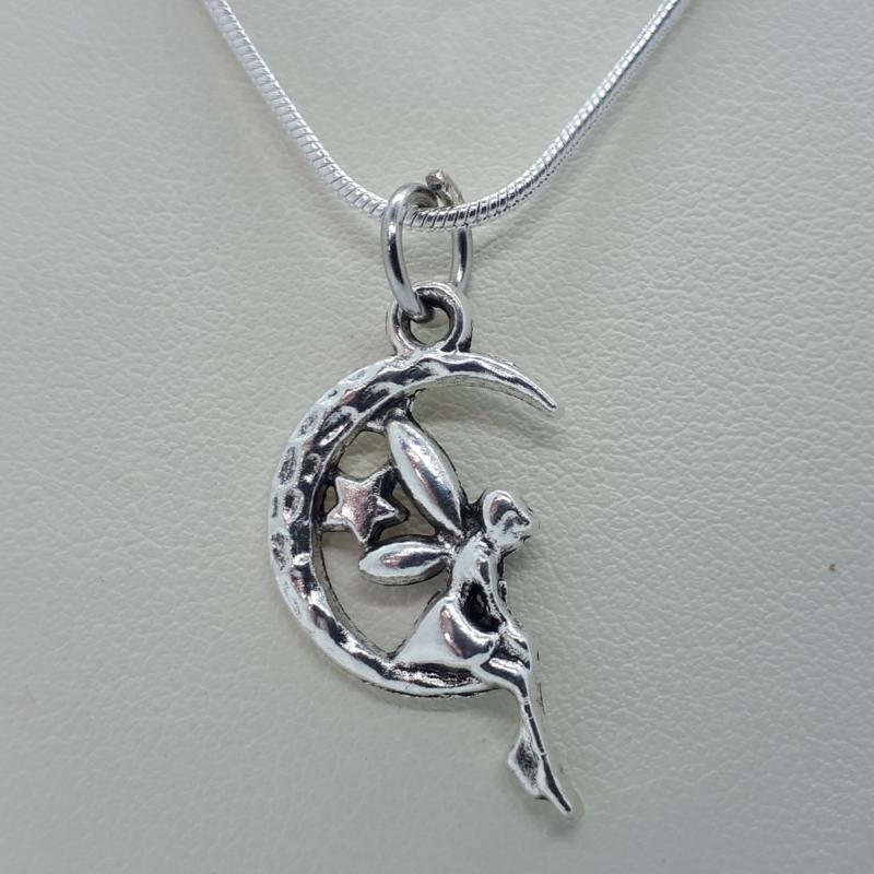 Elfje ketting zilverkleurig (Elmadi bijoux)
