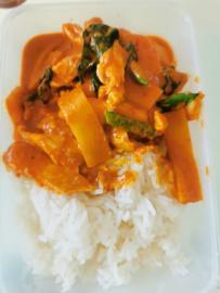 10-11-12.  Kip Met Curry en bamboo ( Verschillende versies mogelijk  via Keuzelijst)
