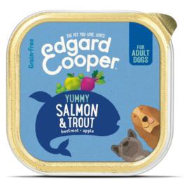 Edgard&Cooper Kuipje Salmon Trout Adult - Hondenvoer - Zalm Forel 150 g Graanvrij