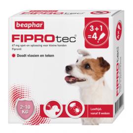 Beaphar Fiprotec hond 2-10 kg 4 pipetten
