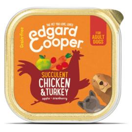 Edgard&Cooper Kuipje Chicken Turkey Adult 150 g - Hondenvoer - Kip&Kalkoen