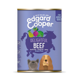 Edgard&Cooper Blik Beef Adult - Hondenvoer - Rund Rode Biet Broccoli 400 g Graanvrij