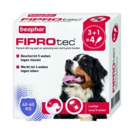 Beaphar hond Fiprotec 40-60 kg 4 pipetten