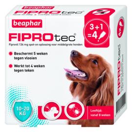 Beaphar Hond 4 Pipet Fiprotec < 20kg