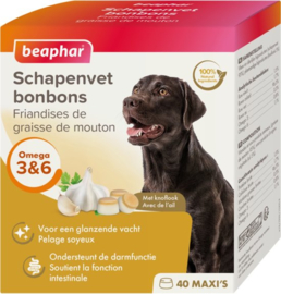 Beaphar Schapenvet Bonbons Knoflook - Hondenvoer - 245 gr
