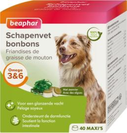 Beaphar Schapenvet Bonbons+Zeewier Hondensnack - 245 gr