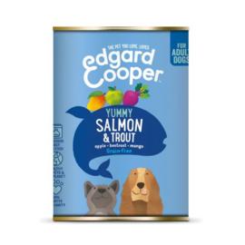Edgard&Cooper Blik Salmon Trout Adult - Hondenvoer - Zalm Forel Appel 400 g Graanvrij