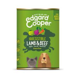 Edgard&Cooper Blik Lamb Beef Adult - Hondenvoer - Lam Rund Appel 400 g Graanvrij