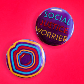 Social Justice Worrier - Button set