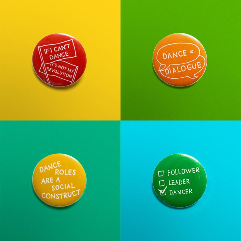 Social Dance Buttons