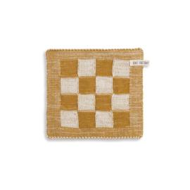 Knit Factory - Pannenlap - Block - ecru/oker