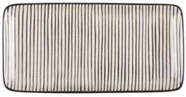IB Laursen serveerschaaltje Casablanca stripes verticaal zwart