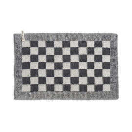 Knit Factory - Placemat - block - ecru/antraciet