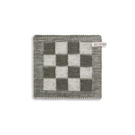 Knit Factory - Pannenlap - Block - ecru/khaki