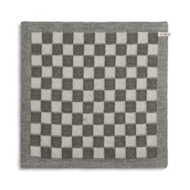 Knit Factory - Keukendoek - Blok - ecru - khaki