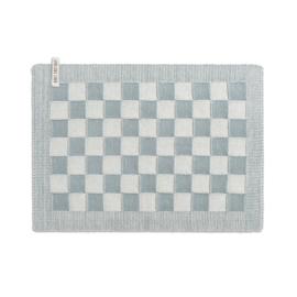 Knit Factory - Placemat - block - ecru/stone green
