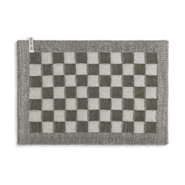 Knit Factory - Placemat - block - ecru/khaki