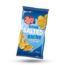 Nacho chips salted zak 450gr (XXL zak)