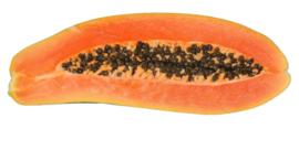 Papaya extra groot, ingevlogen