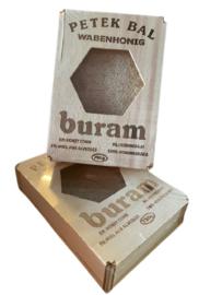 Honingraat puur natuur rauw, houten doos 750gr