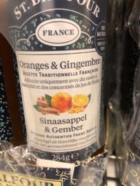 100% sinaasappel-gember Jam zonder toevoegingen pot