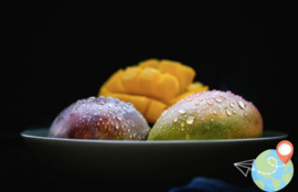 Mango ingevlogen Gold per stuk