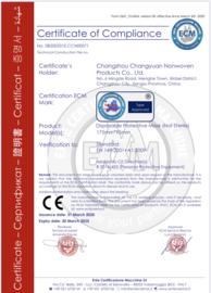 Mondkapjes 50 stuks, 3-laags  CE gecertificeerd per doosje
