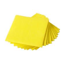 Huishouddoekjes Geel 10st per pak