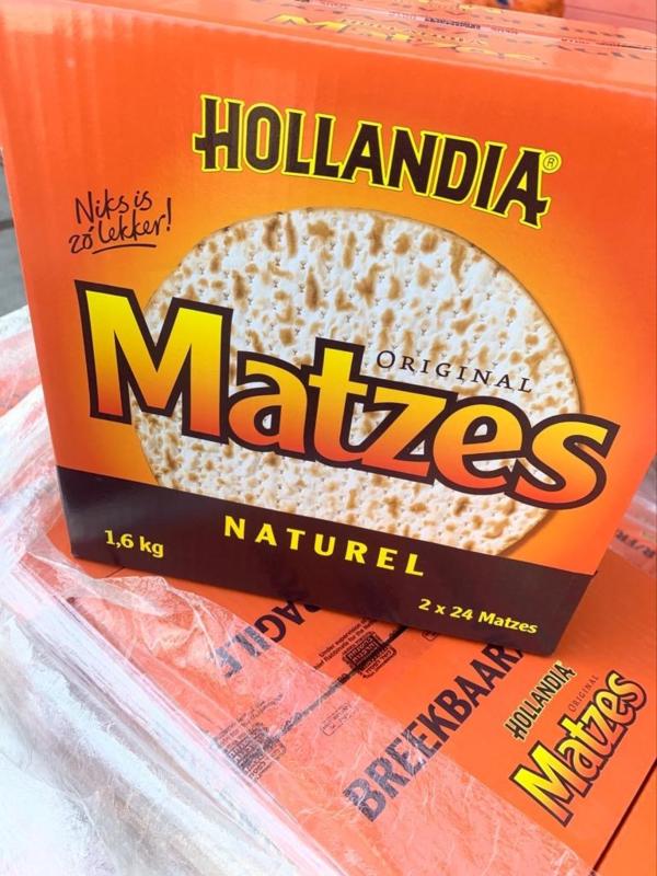 Matzes Hollandia kosher voor pesach 1,6kilo doos
