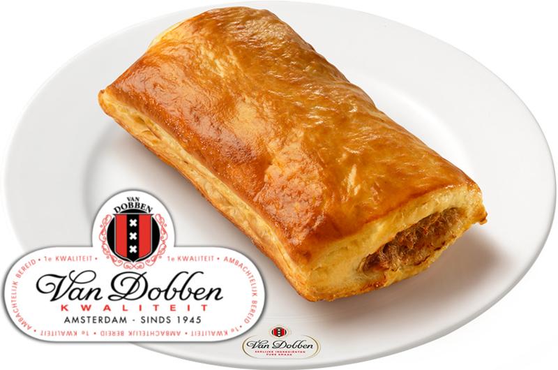 Van Dobben Saucijzenbroodje Rundvlees per stuk ❄️ (afbak)