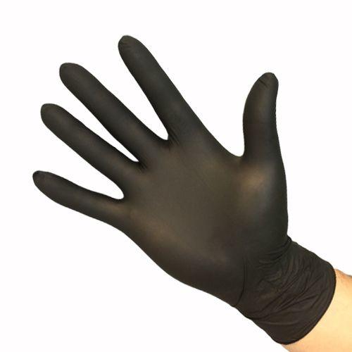 Handschoenen NITRIL ZWART 100 stuks Large/Medium