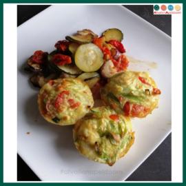 Ei muffins met groenten