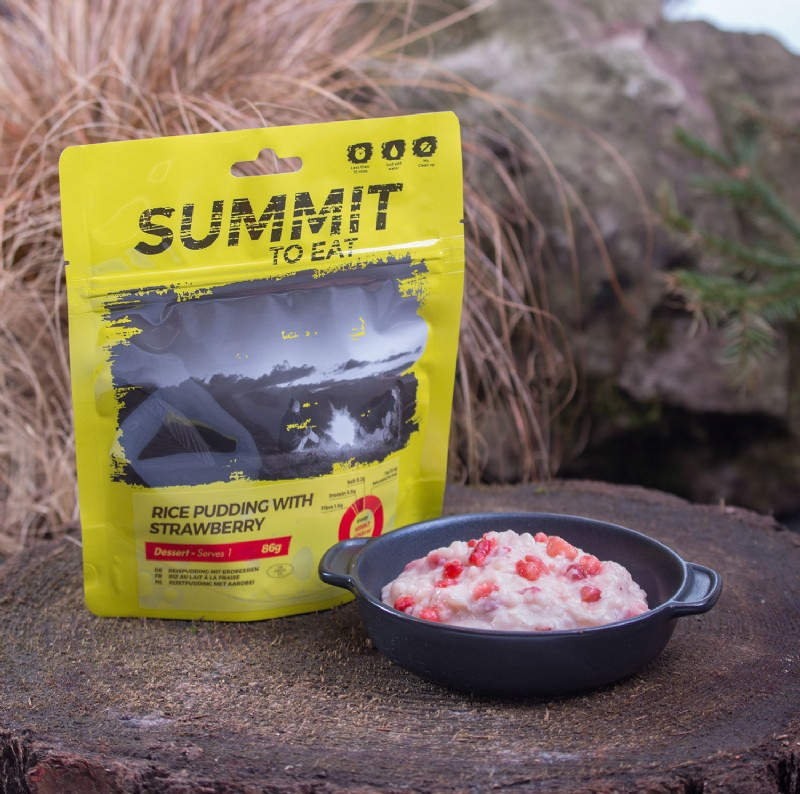 Summit to Eat Rice Pudding with Strawberry - Dessert