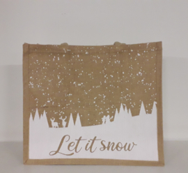 Jute tas let it snow
