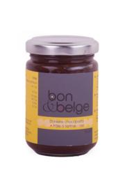 Heerlijke Belgische artisanale chocopasta - fondant chocolade - met vleugje hazelnoot - 155 g