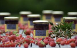 bon & belge - Confiture artisanale fruitée à la mûre (80%) pauvre en sucre avec des édulcorants - 200g