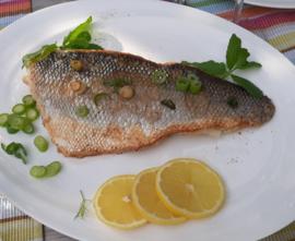 PREMIUM: Zeebaars uit de Waddenzee met gestoofde groenten (vanaf 2 pers)