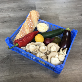 Maaltijdbox | Lauwwarme zomersalade van gegrilde groenten (2 pers)