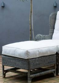 Outdoor Rustic Rattan Nicolas Wing Chair Footstool