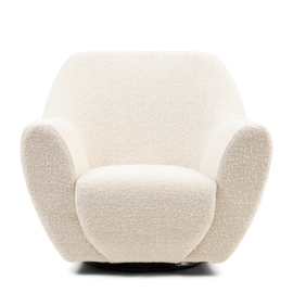 The Jill Swivel Chair Boucle white sand