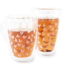 Lovely Drinks Double Wall Glas L