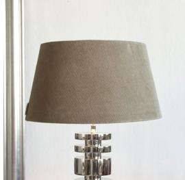 Lovely Rib Velvet Lampshade Grey 35x45
