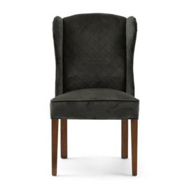 William Dining Chair velvet Slate Grey Riviera Maison