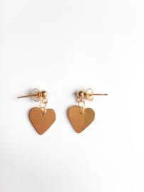 Goudkleurige oorbellen met hartje