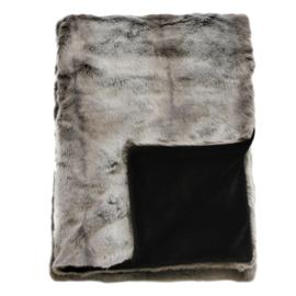 Heirloom bontplaid 150 x 180 cm Silver Marter