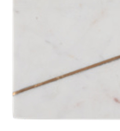 Serveerplank marmer wit/ goud 41x21x2cm (LS1002)