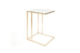 BIJZETTAFEL goud/glas - 40x35x54.5cm (HV1001)